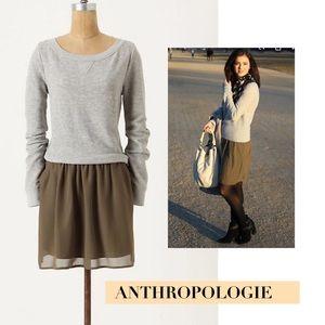 Deletta at Anthropologie Gray Sweatshirt Dress